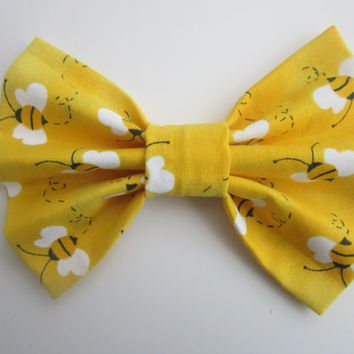 Bumble Bee Hair Bow