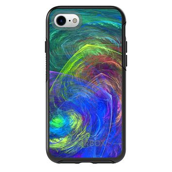 DistinctInk™ OtterBox Symmetry Series Case for Apple iPhone / Samsung Galaxy / Google Pixel - Abstract Color Light Swirl