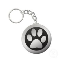 SILVER PAW PRINT KEY CHAIN from Zazzle.com