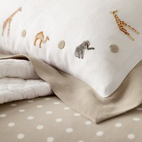 Embroidered Safari Boudoir Sham