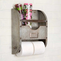 Rustic Farmhouse Style Nameplate Bathroom Caddy Toilet Paper  Holder