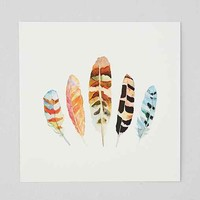 Sarah B. Martinez 5 Feathers #5 Art Print- White One