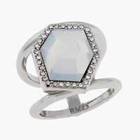 Women's Rebecca Minkoff 'Gem Hex' Stone Stack Ring