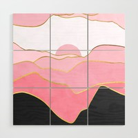 Minimal Landscape 02 Wood Wall Art by marcogonzalez