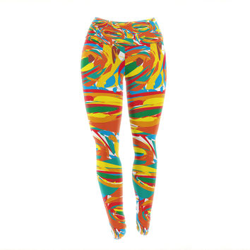 "Matthias Hennig ""Go Left Crazy"" Yoga Leggings"