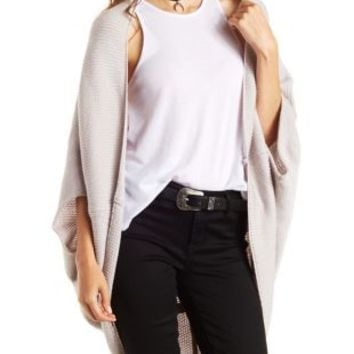 Lt Gray Oversized Cocoon Cardigan Sweater by Charlotte Russe