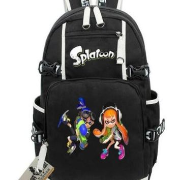 Anime Backpack School 2018 kawaii cute Cosplay Game Splatoon 2 Backpack women School Book Student Shoulder Bag Travel Bags Splatoon Teenage Girl Backpacks AT_60_4