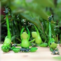 Kawaii Yoga Frogs Figurine Girl's Dream Modern Resin Home Sculpture Dolls Resin Model Odd Gifts Crafts Animal Home Decoration