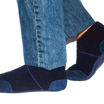 Unisex Wool House Slippers with Leather Soles