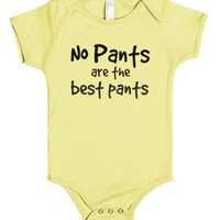 No pants are the best pants-Unisex Lemon Baby Onesuit 00