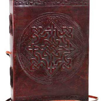 Celtic Knot Leather Covered Journal with Cord