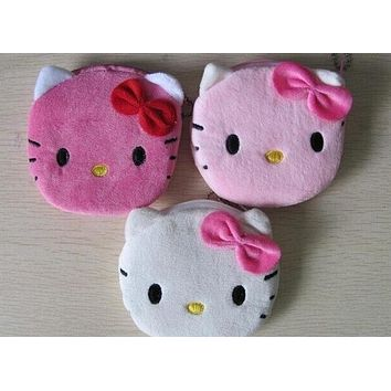 Kawaii 3Colors - Cat Plush Toys Bag , Plush 10CM Toy Purse Wallet Keychain plush toy