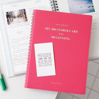 Pink Seize the Day Story Notebook