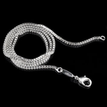 Fashion 16-30inches Snake Fine 925 Sterling Silver Italy Necklace Chains With Lobster Clasps Link for Charms Pendant Wedding Party trendy Jewelry = 1945802756