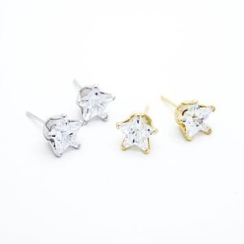 Star stone earrings