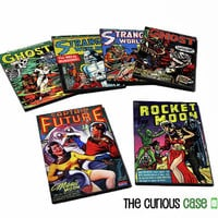 Comic Book Cover Magnet 2x3 inches Hardboard Wood Ready to Ship Great Stocking Stuffer Retro Science Fiction