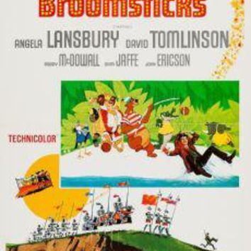 "Bedknobs And Broomsticks Poster Movie Poster Insert 14""X36"""