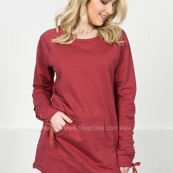 Cool Mauve Pocket Pullover