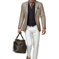 Jacket Light Brown Plain Havana C544 | Suitsupply Online Store