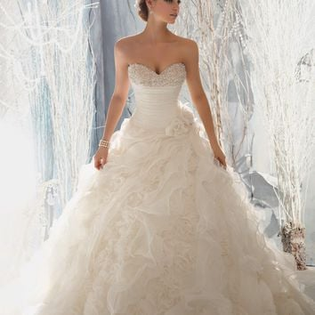 Mori Lee 1965 Ruffle Skirt Wedding Dress