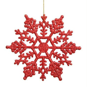 12 Christmas Ornaments - Red Hot Snowflake