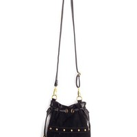 Studded Fringe Bucket Bag