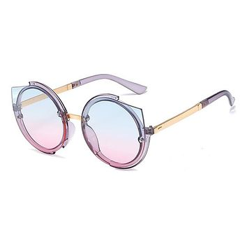 Young and Free Round Cat eye Sunglasses