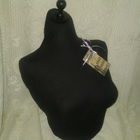 Boutique Dress form designs to the waist. Life size torso great for store front or home decor. Black bust form