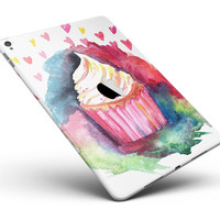 "Love, Cupcakes, and Watercolor Full Body Skin for the iPad Pro (12.9"" or 9.7"" available)"