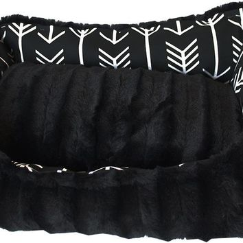 Reversible Bumper Dog Bed Black Arrow Medium