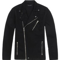 Bullhead Denim Co Denim Biker Jacket - Mens Jacket - Black