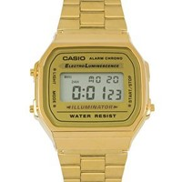 Casio A168WG-9EF Gold Plated Digital Watch