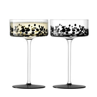 Devoré Champagne/Cocktail Glass - Set of 2 - Black from LSA