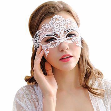 1PCS Black White Women Sexy Lace Eye Mask Party Masks For Masquerade Halloween Venetian Costumes Carnival Mask Lady Gifts