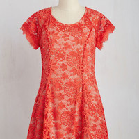 Short Length Short Sleeves Shift Concisely Spiced Dress