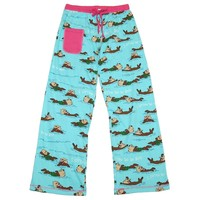 "Lazy One Womens Yoga Pajama Pant ""Otter Be In Bed"" (XSmall)"