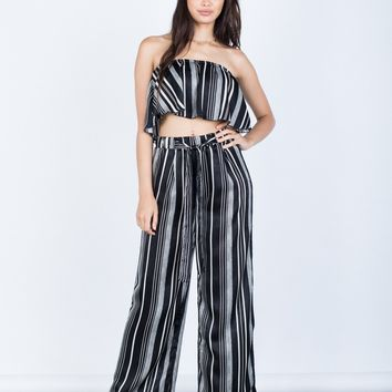 Satin Nights Striped Pants