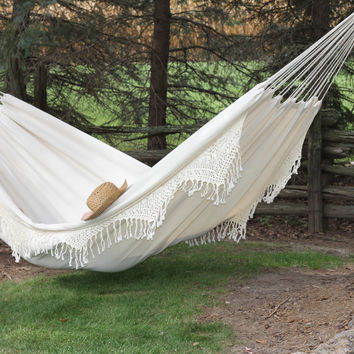 Brazilian Style Double Deluxe Hammock (Natural)