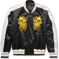 Alexander McQueen - Embroidered Cotton and Silk-Blend Satin Souvenir Jacket