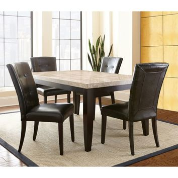 Steve Silver Co. Monarch Standard Height Dining Set in Dark Cherry