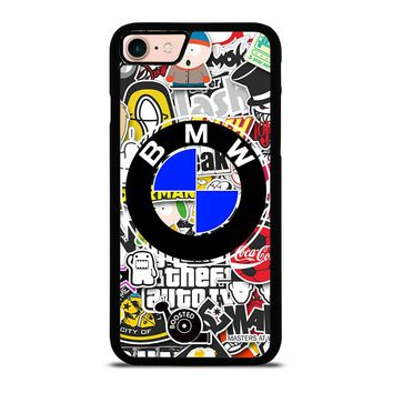 BMW STICKER BOMB iPhone 8 Case Cover