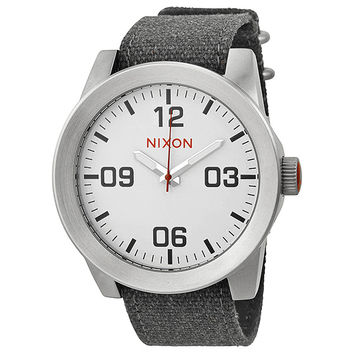 Nixon Corporal White Dial Stainless Steel Mens Watch A243100-00