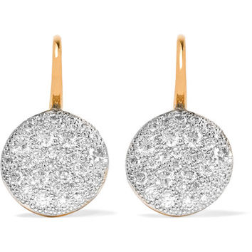 Pomellato - Sabbia 18-karat rose gold diamond earrings