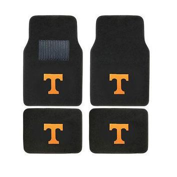 Licensed Official New 4pc Set NCAA Tennessee Volunteers Car Truck Front Back Carpet Floor Mats