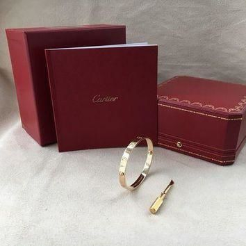 ONETOW Cartier Love Bracelet Yellow Gold Size 17 (New Screw System)??