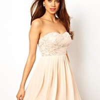 Little Mistress Lace Body Skater Dress