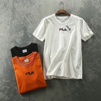 FILA Embroidery Logo Cotton T-shirt