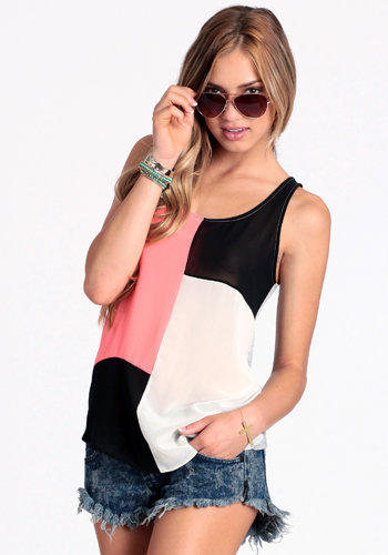 Mod Spot Colorblock Top - $29.00 : ThreadSence.com, Your Spot For Indie Clothing & Indie Urban Culture