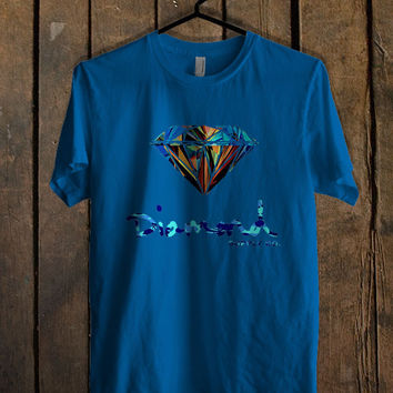Diamond Supply Co Custome Blue Mens T Shirt **