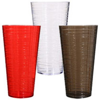 Bulk Plastic Tumblers with Textured-Line Pattern, 26 oz. at DollarTree.com